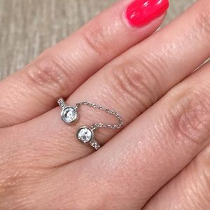 CZ Ring with Chain